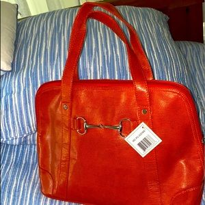 Bright Orange-red satchel bag. Nwt